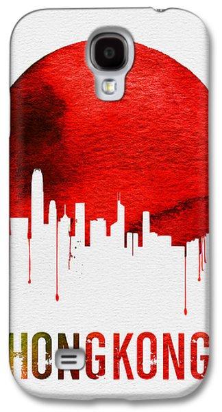 Hong Kong Skyline Red Galaxy S4 Case by Naxart Studio