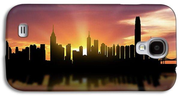 Hong Kong Galaxy S4 Case - Hong Kong Skyline Sunset Chhk22 by Aged Pixel