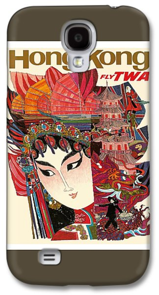 Hong Kong Galaxy S4 Case - Hong Kong Vintage Airline Travel Poster By David Klein by Retro Graphics