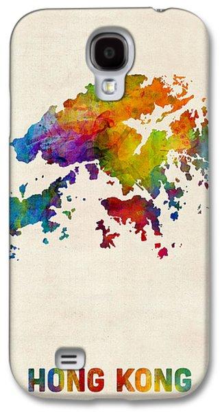 Hong Kong Watercolor Map Galaxy S4 Case by Michael Tompsett