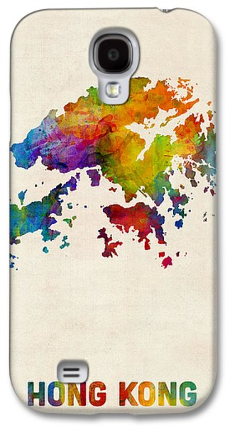 Hong Kong Watercolor Map Galaxy S4 Case by Michael Tompsett