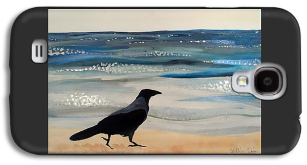 Hooded Crow At The Black Sea By Dora Hathazi Mendes Galaxy S4 Case by Dora Hathazi Mendes