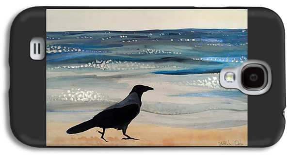 Hooded Crow At The Black Sea By Dora Hathazi Mendes Galaxy S4 Case
