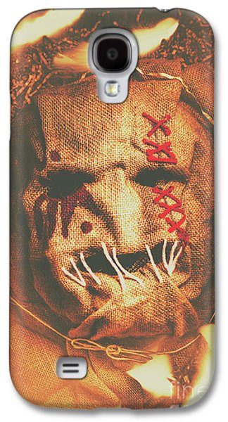 Horror Scarecrow Portrait Galaxy S4 Case by Jorgo Photography - Wall Art Gallery