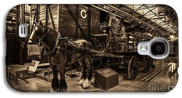Horse And Cart Loading Train Galaxy S4 Case by Clare Bambers