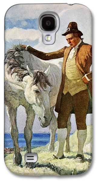 Horse And Owner Galaxy S4 Case by Newell Convers Wyeth