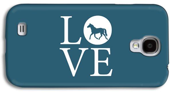 Horse Love Galaxy S4 Case by Nancy Ingersoll