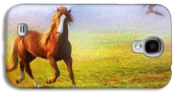 Horse On The Prairie Galaxy S4 Case by Georgiana Romanovna