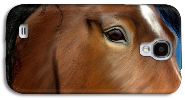 Horse Portrait Close Up Galaxy S4 Case