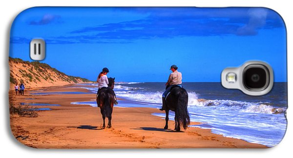 Horse Riders Out For A Walk Galaxy S4 Case