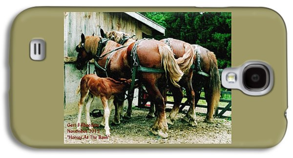 Horses At The Barn H A Galaxy S4 Case