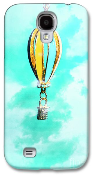 Hot Air Balloon Pendant Over Cloudy Background Galaxy S4 Case by Jorgo Photography - Wall Art Gallery