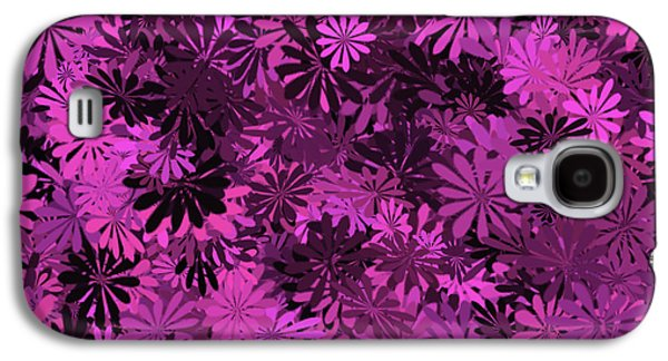 Hot Pink Floral Pattern Galaxy S4 Case