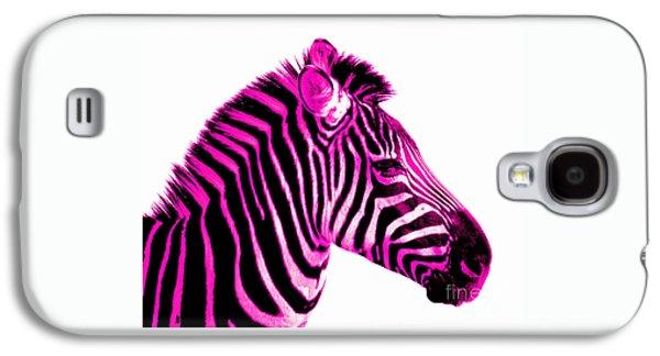 Hot Pink Zebra Galaxy S4 Case by Rebecca Margraf