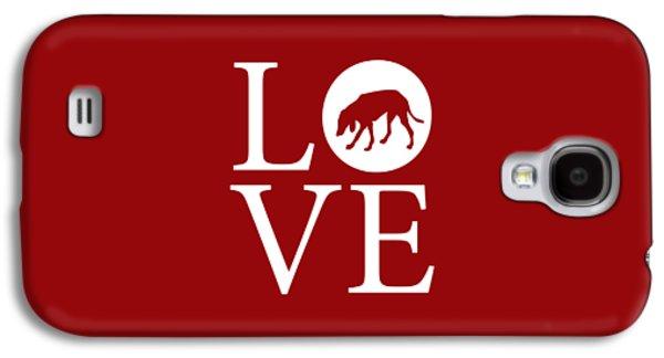 Hound Dog Love Red Galaxy S4 Case by Nancy Ingersoll