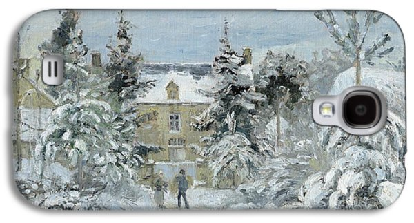 House At Montfoucault Galaxy S4 Case by Camille Pissarro