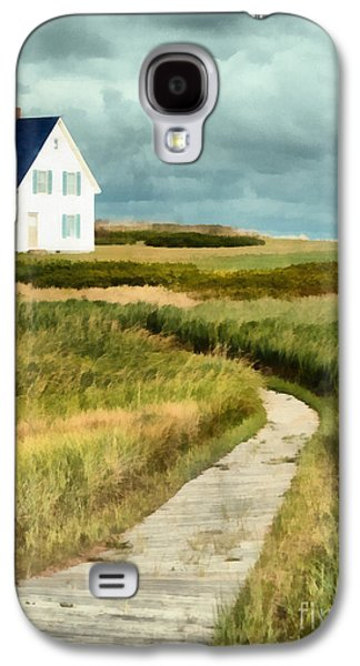 House At The End Of The Boardwalk Galaxy S4 Case by Edward Fielding