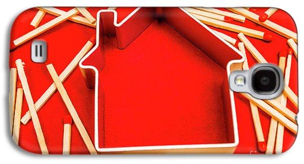 House Fire Warning Galaxy S4 Case