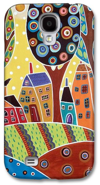 Houses Barn Landscape Galaxy S4 Case by Karla Gerard