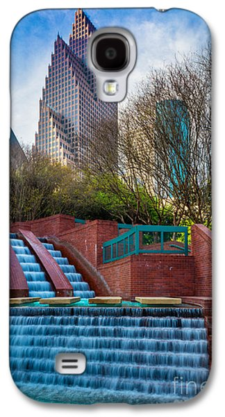 Houston Fountain Galaxy S4 Case by Inge Johnsson