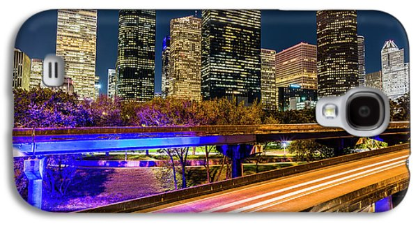 Houston Skyline From I-45 Galaxy S4 Case by Andy Crawford
