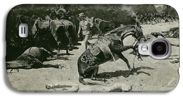 How The Horses Died For Their Country At Santiago, 1899 Galaxy S4 Case by Frederic Remington