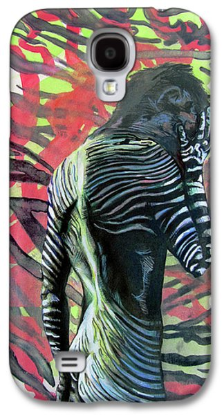 Rising From Ashes Zebra Boy Galaxy S4 Case