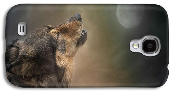 Howling At The Moon Galaxy S4 Case