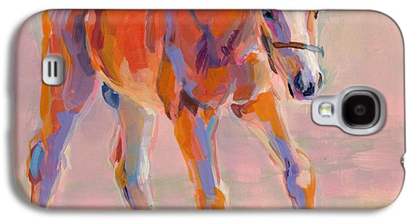 Horse Racing Galaxy S4 Cases - Hugo Galaxy S4 Case by Kimberly Santini