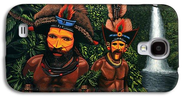 Huli Men In The Jungle Of Papua New Guinea Galaxy S4 Case