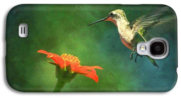 Humming Bird And Zinnia With Textures Series Galaxy S4 Case