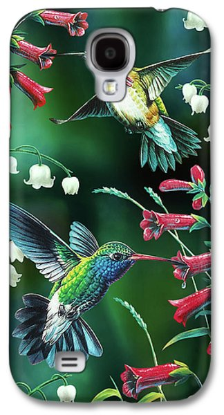 Cynthie Fisher Galaxy S4 Cases - Humming Birds 2 Galaxy S4 Case by JQ Licensing