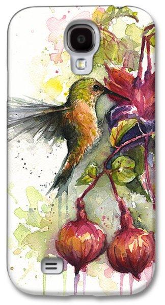 Hummingbird And Fuchsia Galaxy S4 Case by Olga Shvartsur
