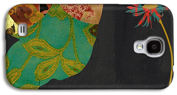 Hummingbird Brocade Iv Galaxy S4 Case by Mindy Sommers