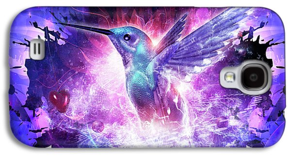 Hummingbird Love Galaxy S4 Case by Cameron Gray