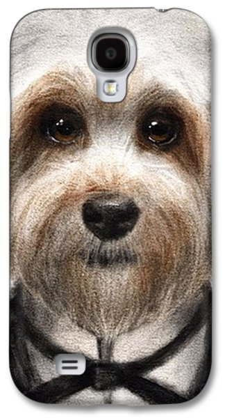 Humorous Dressed Dog Painting By Galaxy S4 Case