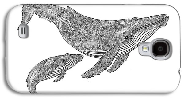 Whale Galaxy S4 Case - Humpback And Calf by Carol Lynne