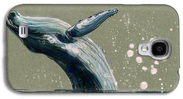 Whale Galaxy S4 Case - Humpback Whale Swimming by Juan  Bosco