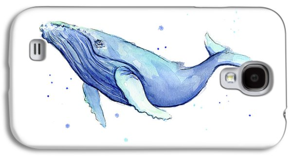 Whale Galaxy S4 Case - Humpback Whale Watercolor by Olga Shvartsur