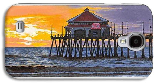 Huntington Pier Sunset Galaxy S4 Case