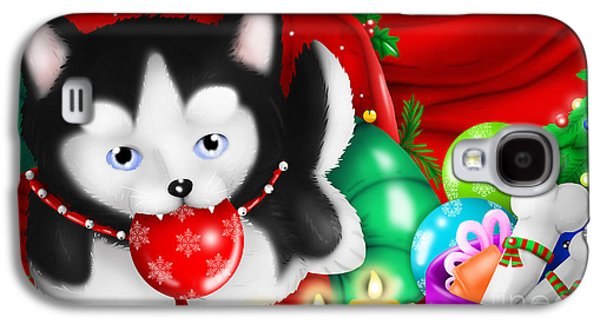 Husky Puppy Love Christmas 's Day Galaxy S4 Case