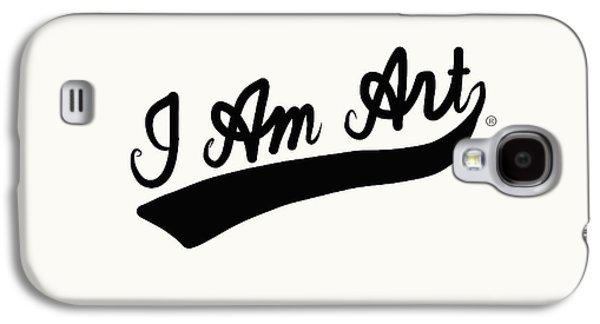 I Am Art Swoosh Black- Art By Linda Woods Galaxy S4 Case by Linda Woods