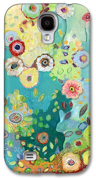 Floral Abstract Galaxy S4 Case - I Am by Jennifer Lommers