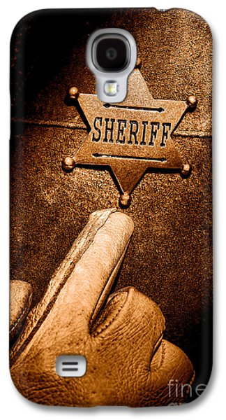 I Am The Law - Sepia Galaxy S4 Case by Olivier Le Queinec
