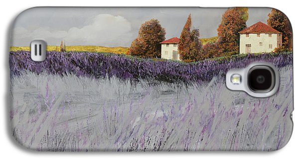 Field Paintings Galaxy S4 Cases - I Campi Di Lavanda Galaxy S4 Case by Guido Borelli