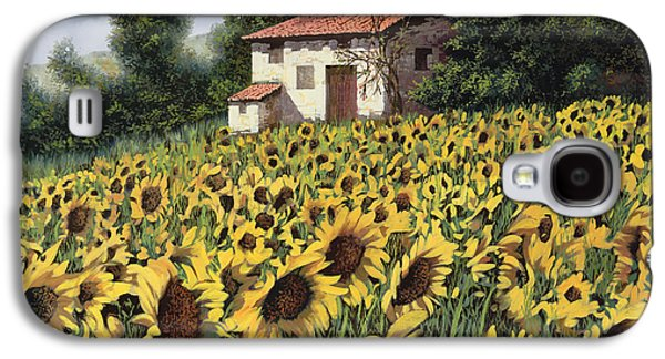 I Girasoli Nel Campo Galaxy S4 Case by Guido Borelli