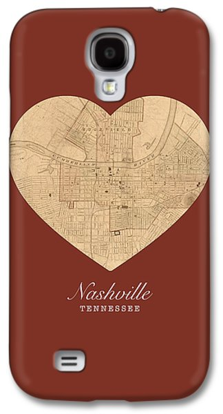 I Heart Nashville Tennessee Vintage City Street Map Americana Series No 010 Galaxy S4 Case by Design Turnpike