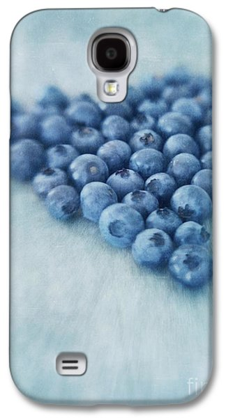 I Love Blueberries Galaxy S4 Case by Priska Wettstein