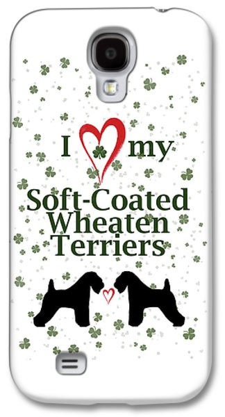 I Love My Soft Coated Wheaten Terriers Galaxy S4 Case by Rebecca Cozart