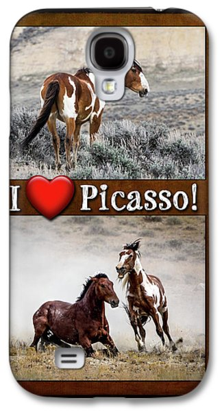 I Love Picasso Collage Galaxy S4 Case